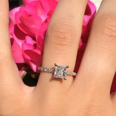 59 Best Princess Cut Engagement Rings Images In 2018 Diamond Cuts
