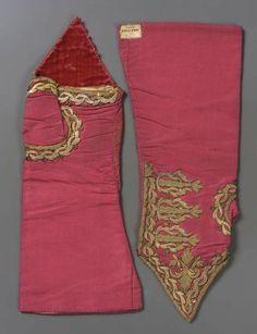 Pair of children's mitts  Italian, 18th century  Italy  DIMENSIONS  Overall: 34.5 x 14 x 1.5 cm (13 9/16 x 5 1/2 x 9/16 in.)  MEDIUM OR TECHNIQUE  Silk