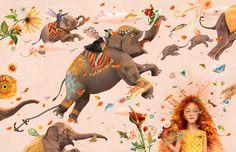 POETISK FULLTREFFER: - Det er flere som har skrevet om sorg for barn tidligere, men Hole gjør det på en helt egen måte, hvor svært mye av kraften i fortellingen ligger i de uendelig vakre bildene, mener VGs anmelder Mari Nymoen Nilsen og gir terning 6. Illustrasjonen er fra boken, «Annas himmel». Ill.: CAPPELEN DAMM