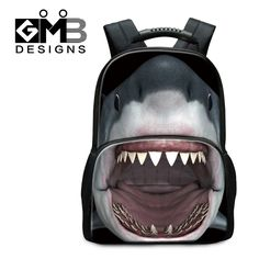 (Buy here: http://appdeal.ru/oqu ) Brand Women Shark Backpack Animal Printing School Youth Trend School Bags Horse Shoulder Bag Laptop Backpack Mochila Masculina for just US $49.99
