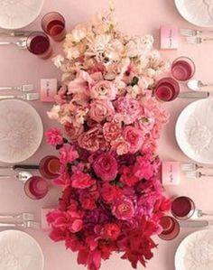 Ombre floral centrepiece