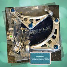 2003 BMW 323i Front Lower Rearward Control Arms Kit by Meyle & Front Stabilizer Bar Links by Lemforder #meyle #lemforder #suspension #autoparts #toronto #bmw #controlarms #stabilizerlinks #ahonautoparts