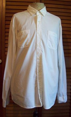 Red Camel XXL White Button Up Shirt Men's Long Sleeve  #RedCamel #ButtonFront