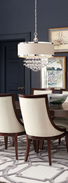 Elegant Chandelier In This Lovely Dining Room