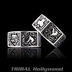Hit the craps table flashing this hexagonal sterling silver men's dice ring from Ecks with six bright ruby red dotted dice panels. Bracelets For Men, Beaded Bracelets, Necklaces, Mens Designer Jewelry, Sterling Silver Mens Rings, The Draw, Size 10 Rings, Silver Man, Rings For Men