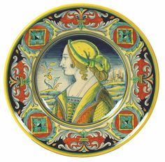 PA5/42W-UMB - UMBERTO: Wall plate with noblewoman profile (Large) (16D.)