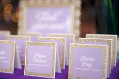 Escort cards - like the shape not color