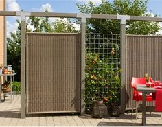 Fence in polyrattan Fence, Backyard, Outdoor Structures, Urban, Culture, Garden, House, Home Decor, Houses