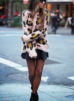 #animal #print #sweater