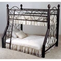 Rustic Vines Iron Bunk Bed