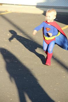 i'm convinced that this is the best superman costume ever. so yes, i'm patting myself on the back.
