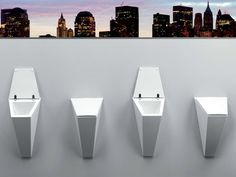 CRYSTAL Urinal by Olympia Ceramica design Francesco Lucchese
