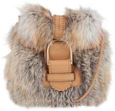 ShopStyle: JIMMY CHOO Fox fur bag