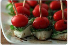 tiny caprese salads