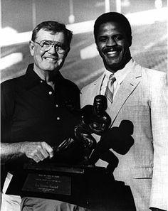 Texas Longhorns Coach Darrell K Royal (1924-2012), with Heisman Trophy winner Earl Campbell.