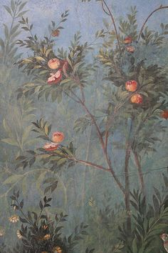Roman fresco detail, Villa of Livia, Prima Porta by raggi di sole, via Flickr