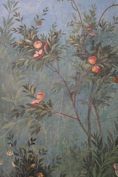 Roman fresco detail, Villa of Livia, Prima Porta by raggi di sole, via Flickr