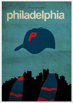 Philadelphia Movie Poster by Posterinspired on Etsy