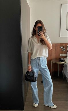 Basic Outfits, Mode Outfits, Cute Casual Outfits, Casual Chic, Fashion Outfits, Womens Fashion, Spring Summer Fashion, Spring Outfits, Mode Hipster