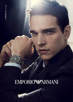 Model Alexandre Cunha is the star of Emporio Armani's fall/winter 2013 watches campaign. For the new advertisements, the Brazilian model reunites with photographer Craig McDean and stylist Edward Enninful,