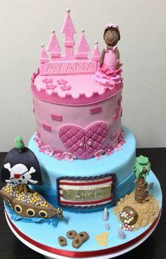 Princess and Pirate Cake