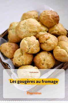 Gougères au fromage, idéales pour l'apéro, en pique-nique ou même sur vos tables de fêtes #marmiton #cuisine #recette #recettemarmiton #fromage #gougere