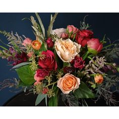 Red and peach, fall delivery design from Sullivan Owen. Call 215-964-9790 to order for yourself or for a friend!