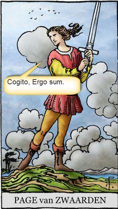 Page van Zwaarden bedenkt uiteindelijk toch zelf zijn motto. Lees hier meer: http://tarotstapvoorstap.nl/tarotkaarten/de-tarot-schildknapen-en-hun-mottos/