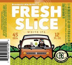Cerveja Otter Creek Fresh Slice White IPA, estilo Belgian IPA, produzida por Otter Creek Brewing, Estados Unidos. 5.5% ABV de álcool.