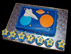 space themed birthday cake by Simply Sweets, via Flickr