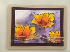 Purple water color Penny Black stamp