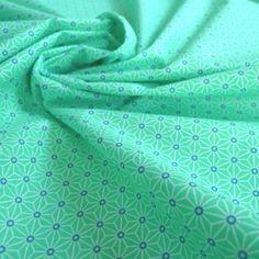 Tissu japonais Fuji menthe