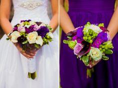 Vintage Purple and Green North Carolina Wedding