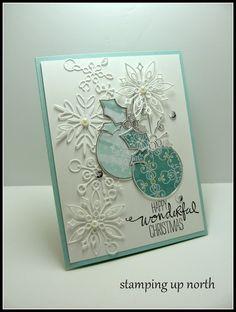 stamping up north, memory box dies, Christmas card