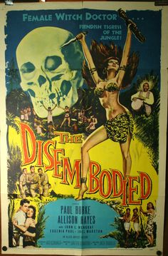 Old Retro Horror Film Posters - The Disembodied