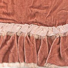Romantic Ruffled Velvet Bedding - Bella Notte Loulah | J Brulee Home