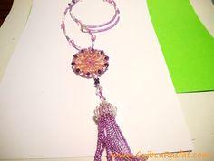 handmace crystal and toho beads necklace