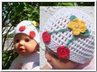"""Strickparadies - """"Kirschen""""-Baby/Kindermütze"""