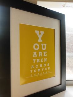 You are the Nachos to My Cheese Eye Chart Print