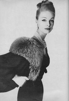 https://flic.kr/p/SVmvFE | Vogue Editorial shot by Irving Penn 1958 | Monique Chevalier