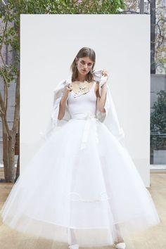 The Freshest Dresses From Bridal Fashion Week via @WhoWhatWearUK