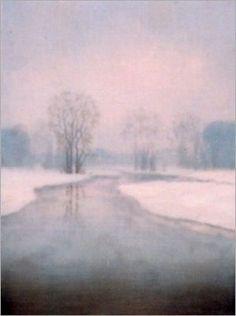 Stephen Hannock  Flooded River: Evening Snow