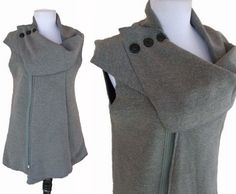 Collared Layering Sweater M by RebeccasArtCloset on Etsy