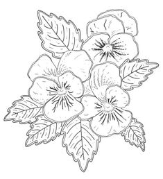 Flower Embroidery Designs, Hand Embroidery Patterns, Vintage Embroidery, Embroidery Stitches, Machine Embroidery, Painting Patterns, Fabric Painting, Images Roi Lion, Coloring Books