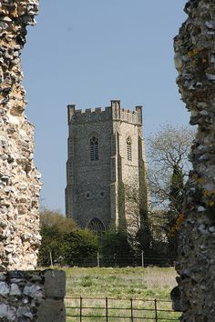 Castle Acre church from the Priory, Norfolk, England Tractor Photos, Norfolk England, Old Churches, Fortification, Cathedrals, See It, Aquarius, Amazing, Awesome
