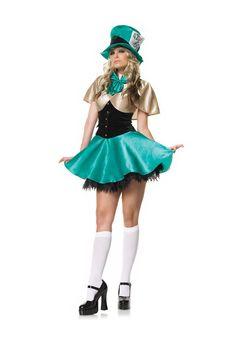 Mad Hatter Hostess Costume W/FREE Petticoat