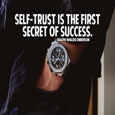 Self-Trust Is The First Secret To Success #success