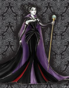 Maleficent Original Sketch.... kay this is pretty fantastic too