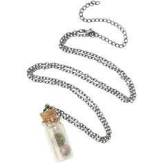 Disney The Little Mermaid Ariel Charms Bottle Necklace | Hot Topic ($6.80) ❤ liked on Polyvore featuring jewelry, necklaces, disney, charm chain necklace, chain pendants, chains jewelry and charm pendant necklace