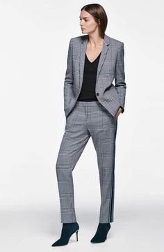 f7b682662eb22 BOSS Jemaromina Glen Plaid Suit Jacket
